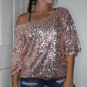 Tops - Pink sequence top